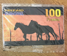 CHEVAUX EUROTEL PREPAID 100 FRANCS PRÉPAYÉE CARTE TÉLÉPHONIQUE A CODE PHONECARD PAS TÉLÉCARTE - Prepaid Cards: Other