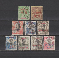 9 TIMBRES CANTON OBLITERES DE 1901 à 1919       Cote : 22,50 € - Used Stamps