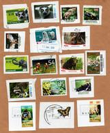 BRD - Privatpost  - Lot Tiere Auf Marken (Affen, Bären, Fische, Schmetterlinge, Elefanten, Vögel,Lurche) - Sonstige