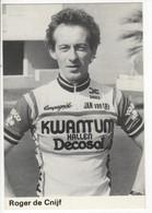 ROGER DECNIJF  KWANTUM DECOSOL 1984 NOIR ET BLANC - Cycling