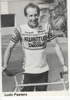 LUDO PEETERS  KWANTUM DECOSOL 1984 NOIR ET BLANC - Cycling