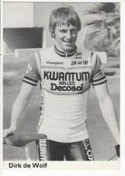 DIRK DE WOLF  KWANTUM DECOSOL 1984 NOIR ET BLANC - Cycling