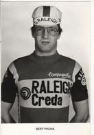 BERT PRONK RALEIGH CREDA NOIR ET BLANC 1980 - Cycling