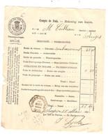 REF2985/ Chemins De Fer De L'Etat (Belgique) Compte De Frais Rekening Van Kosten C.Heaxagonal Bruges Bassin 18/3/1905 - 1895-1913