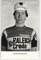 JOHAN VAN DE VELDE  RALEIGH CREDA NOIR ET BLANC 1980 - Cycling