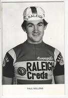 PAUL  WELLENS  RALEIGH CREDA NOIR ET BLANC 1980 - Cycling