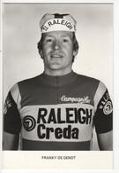 FRANKY DE GENDT  RALEIGH CREDA NOIR ET BLANC 1980 - Cycling