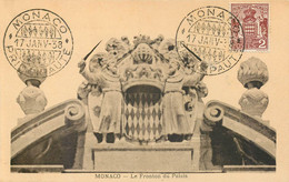 Carte Maximum - Fronton Du Palais 1938 - Cartoline Maximum