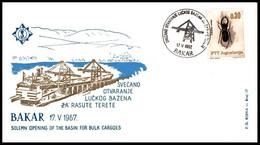 """Yugoslavia 1967, Illustrated Cover """"Port Pool In Bakar"""" W./ Postmark """"Bakar"""" - Covers & Documents"""