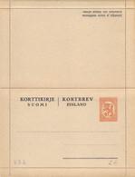 Finland Postal Stationery Letter Card Korttikirje Kortbrev 1 Mk Unused (335) - Entiers Postaux