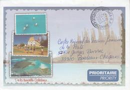 NOUVELLE CALEDONIE LETTRE EN FRANCHISE DE NOUMEA POUR LA FRANCE 2003 - Cartas
