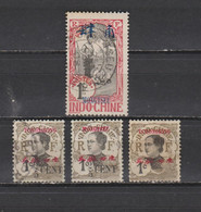 4 TIMBRES MONGTSEU &  TCHONGKING OBLITERES  DE 1908 & 1919        Cote : 19,60 € - Used Stamps