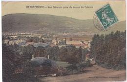 88 - REMIREMONT -  VUE GENERALE PRISE AU-DESSUS DU CALVAIRE  - CARTE TOILEE - Remiremont