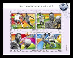 Liberia 2020 Mih. 7993/96 Football. Pele MNH ** - Liberia