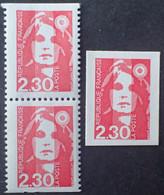 R1624/411 - 1989/1990 - TYPE MARIANNE DU BICENTENAIRE - (PAIRE VERTICALE) N°2629a + N°2630 NEUFS** - Unused Stamps