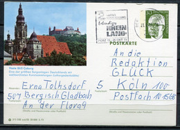 "Germany 1973 GS Heinemann ""Mi.Nr.P109/a6/55 ""Coburg,Burganlage""mit MWST""Bergisch Gladbach.""1 GS Used - Illustrated Postcards - Used"