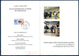 Inauguration De La Poste De Parthenay 17.X.94 Encart Double Timbre 2904 Conservatoire National Des Arts Et Métiers - Documents Of Postal Services