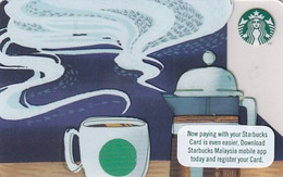 MALAYSIA - Starbucks Card, CN : 6156, Unused - Gift Cards