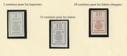 Vignettes Privées Furent émises Pendant La Commune En 1871 Lot CL 1-77 - Otros