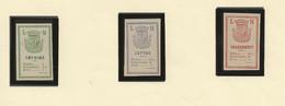 Vignettes Privées Furent émises Pendant La Commune En 1871 Pièce Comptable Lot CL 1-78 - Otros