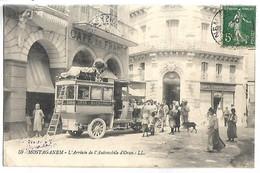 ALGERIE - MOSTAGANEM - L'arrivée De L'Automobile D'Oran - Autobus - Non Classés