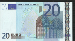 20 EURO ITALIE - ITALIA S J027 A1 UNC TRICHET - 20 Euro