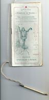Très Beau Carnet De Bal Amicale Employés De Bureau Mairie Angers 1906-1910 Programme Et Nombreuses Publicités - Sin Clasificación