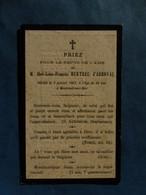 Image GENEALOGIE FAIRE PART DECES NOBLESSE HURTREL D ARBOVAL MONTREUIL SUR MER   1839 1881 - Avvisi Di Necrologio
