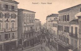 "012010 ""SASSARI - PIAZZA AZUNI"" ANIMATA. CART  SPED 1914 - Sassari"