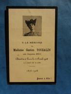Image GENEALOGIE FAIRE PART DECES  TOUZALIN HEC PARIS 1876 1908 - Avvisi Di Necrologio