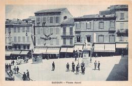 "012011 ""SASSARI - PIAZZA AZUNI"" ANIMATA, FOTO M. BRIASCO. CART  NON SPED - Sassari"