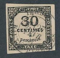 DX-238: FRANCE: Lot Avec Taxe N°6 Obl Signés 2 Fois - 1859-1955 Gebraucht