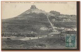 63 - Sommet Du Puy De Dôme  Et L'Observatoire (1465 Mètres D'altitude)  *** Train à Vapeur *** - Ohne Zuordnung