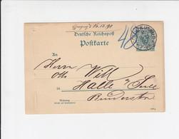 Postkarte - 5p - Coethen - Köthen - Anhalt / Halle - 1890 - Ganzsachen