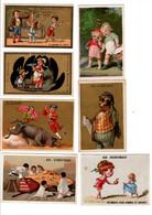 """Vieux Papiers, 7 Chromos De La Maison A.D Godchau à Paris, """" Vêtements Pour Hommes Et Enfants """" Et Un """" à La Providence. - Otros"""