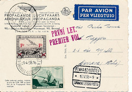 SABENA Brussels –Prague FFC 16 V 38, Prolongement Via CSA De Venise Vers Rome Italie - Cat VdB 353 - Sonstige