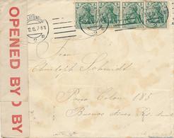 Deutschland - Charlottenburg 3.12.15 Nach Brasilien - Buenos Aires 1 SET 1916 - 9 Monate Unterwegs- Englische Zensur - Briefe U. Dokumente