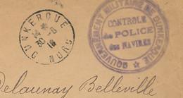 Dunkerque 30-6-16 Lettre Gouvernement Militaire De Dun-kerque - Contrôle De Police Des Navires - 1. Weltkrieg 1914-1918