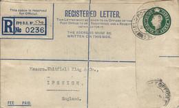 Trieste 1946 FPO 530 British Element Trieste Force (BETFOR) Registered Postal Stationary Cover. Rare - Poststempel