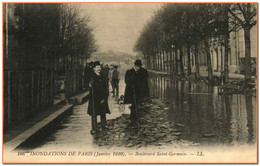75 - PARIS - INONDATION - Boulevard Saint Germain - Überschwemmung 1910