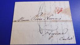 Lettre De PARIS Pour Figeac (Cantal ) -erreur D'adresse ! Juin 1824 - 1801-1848: Precursori XIX