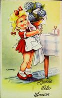 ►CPA   Gougeon     Illustration   Fillette  Géranium - Gougeon