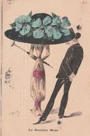 CPA Aquarellée Peinte à La Main Mode Femme Lady Chapeau Immense Gentleman Mateur  Illustrateur  ROBERTY (2 Scans) - Andere Zeichner