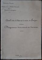 Grande Carte Calque 55 X 180 Cm Du Canal Entre Le Vaïco Et La Rivière De Saigon 1900 Cochinchine Indochine Vietnam - Documenti Storici