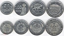 Uzbekistan - Set 4 Coins 50 100 200 500 Som 2018 UNC Bank Bag - Uzbekistan