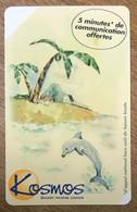 DAUPHIN DOLPHIN KOSMOS PRÉPAYÉE PREPAID CARTE TÉLÉPHONIQUE A CODE 5 MN PUBLIQUE PHONECARD PAS TÉLÉCARTE - Dolphins
