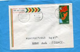 Marcophilie-CONGO-lettre>Françe Cad-MAKABANA-1974-stampsN°A184 Parti Congolais - Other