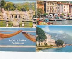 GARGNANO-BRESCIA-LAGO DI GARDA-VILLA BERTONI-CARTOLINA VERA FOTOGRAFIA VIAGGIATA IL 12-8-1969 - Brescia