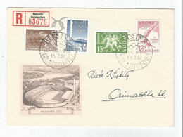 FINLAND -  HELSINKI - 15th SUMMER OLYMPICS 1952 - THE OLYMPIC STADIUM -  WITH SPECIAL OLYMPIC STAMPS - - Juegos Olímpicos