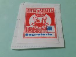 MARCA DA BOLLO DIRITTI DI SEGRETERIA COMUNE DI SCIACCA LIRE 500 - Fiscaux